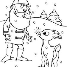 drawing rudolph red nosed reindeer coloring color luna