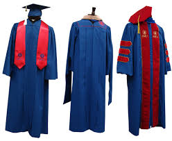 doctoral graduation gown academic regalia smu