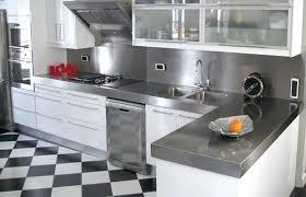 tole inox pour cuisine cuisine inox particulier credence plan de travail tole inox tout