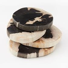 Petrified Wood Bench Petrified Wood Coasters Set Of 4 West Elm