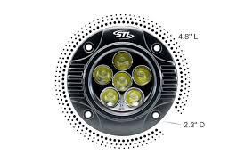 2 inch led spot light circle carbine flush 5 round led spotlight w ccs stl
