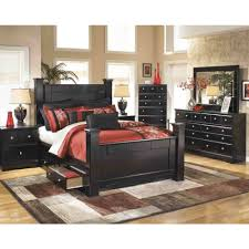 North Shore Bedroom Furniture by Ashley Furniture Shay Queen Poster Bed In Almost Black Local