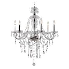 worldwide lighting cascade collection 6 light polished chrome