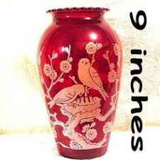 Ruby Vases Image Detail For Ruby Cranberry Red Cut To Clear Glass Vase