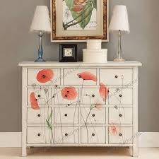 Multi Drawer Wooden Cabinet Style Furniture Vitrine Cabinet Shabby Chic Multi Drawer Chest M 1019