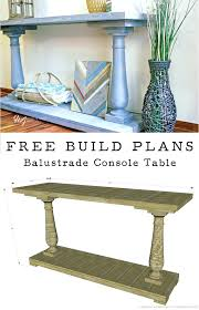 Diy Table Plans Free by Diy Console Table Plans U2013 Thelt Co