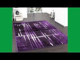 design kleiderstã nder designer teppich modern trendiger kurzflor teppich in lila schwarz