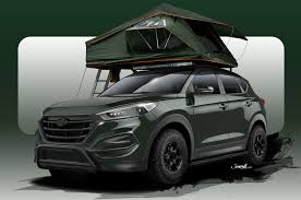 hyundai jeep 2015 hyundai busts out overland ready tucson adventuremobile for sema 2015