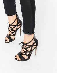 windsor smith 2016 women shoes windsor smith church black strappy lace up heeled