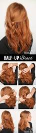 half up side braid hairstyle tutorial romance