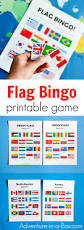 Printable Flag Flags Of The World Bingo Printable Game For Kids Adventure In A Box