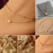 gold heart ankle bracelet images Bespmosp fashion sexy gold heart anklet love chain feet foot women jpg
