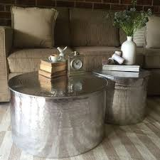 silver drum coffee table round drum coffee table coffee drinker