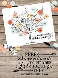 count your blessings tree activity free printables blessings