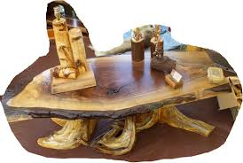 Rustic Walnut Coffee Table Handcrafted Rustic And Log Tables