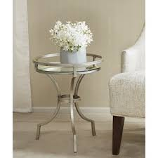 White Accent Table Silver End U0026 Side Tables You U0027ll Love Wayfair
