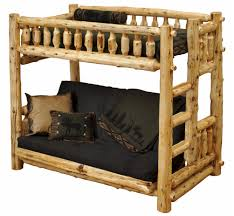 Log Cabin Furniture Twin Over Futon Cedar Log Bunk Bed Minnesota Log Futons The