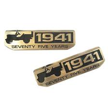 jeep wrangler logo decal 2x emblem badge 75th 1941 anniversary for jeep wrangler cherokee