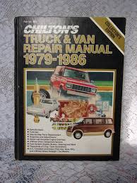 vintage chilton u0027s truck u0026 van repair manual 1979 1986