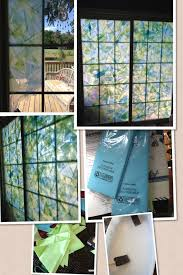 how to fix cracked glass window how to fake stained glass windows supplies tissue paper scissors