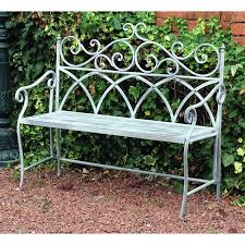metal frame bench vintage wrought iron bench garden patio outdoor seat chair metal