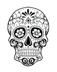 day of the dead coloring skulls collection of sugar skull