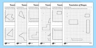 translation of shapes activity sheet pack ks2 key stage 2