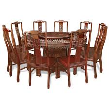 in rosewood dragon and phoenix mother pearl inlay round dining