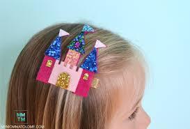 felt hair felt castle hair clip tutorial hello nutritarian