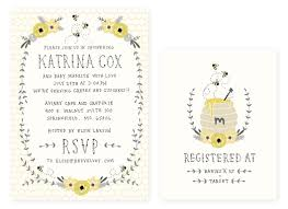 registry for baby shower baby shower invitation and registry card honey bee baby girl or