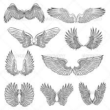 wings design tatoo and tatting