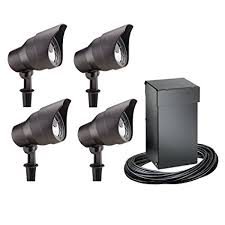Electric Landscape Lights Intermatic Cl10304t Malibu Outdoor Four Light Lighting Kit With