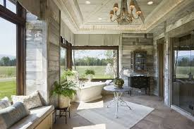 country bathroom ideas pictures country master bathroom with crown molding by locati architects