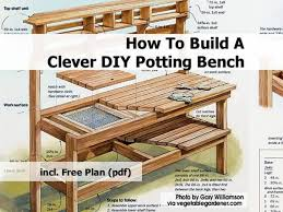 Outdoor Wooden Bench Plans To Build by Cedar Potting Table Plans Ideas For The Garden Pinterest