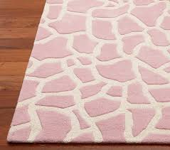 Kids Animal Rugs Animal Print Rug 8 U0027 X 10 U0027 Pink Giraffe Pottery Barn Kids