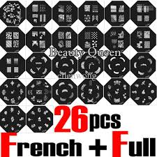 268 designs large nail stamp plate nail art stamping image plate