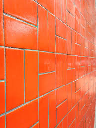 spice up your kitchen or bathroom with a nice orange tile