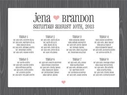 Wedding Seat Chart Template Round Up Seating Chart Posters Something Turquoise Daily
