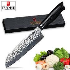 razor sharp kitchen knives tuohe 7 santoku chef knife japanese 67 layers damascus steel