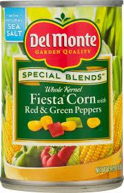 del monte whole kernel sweet fiesta corn 15 25 oz walmart com