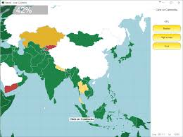 Asia Map Quiz Game by Seterra Has A New Color Scheme Seterra