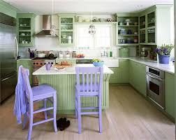 pale green kitchen design with lavender highlight idesignarch