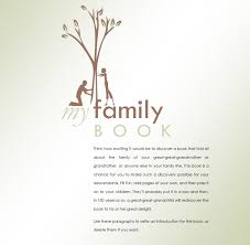 family history book template template haven