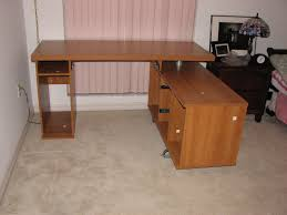 l shaped desk home office furniture brown polished wooden l shaped desk with storage and