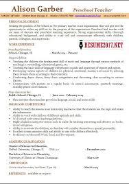 preschool resume template preschool resume sles 2017