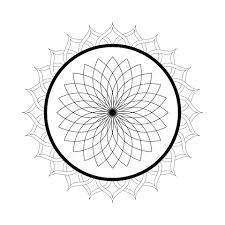 kaleidoscope mandala coloring page free stock photo public