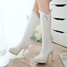 womens white knee high boots nz s shoes nz stiletto heel platform knee high boots dress more
