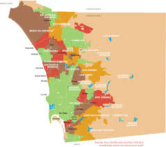 map of county map of san diego region s reservoirs