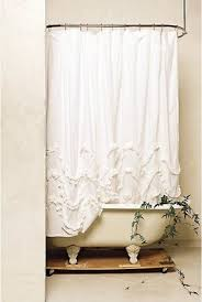 Shabby Chic White Curtains Shabby Chic Shower Curtains Foter