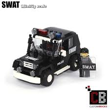 lego jeep custombricks de custom modell moc city swat special order